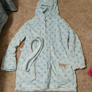 Victoria secret PINK polka dot bathrobe robe